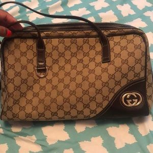 Authentic Gucci Brown Leather Bag